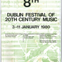 8th Dublin Festival of 20th Century Music, January 1980