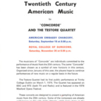 20th Century American Music by Concorde and the Testore Quartet 1976.