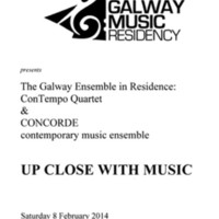 Up Close with Music - Galway Music Residency 08/02/2014