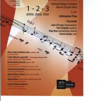 """""""1-2-3: Solos, Duos, Trios"""", 18/10/2009"""
